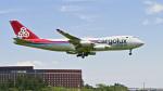 パンダさんが、成田国際空港で撮影したカーゴルクス・イタリア 747-4R7F/SCDの航空フォト(飛行機 写真・画像)