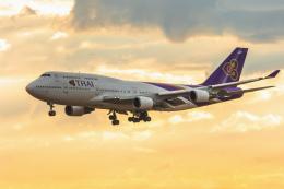 mameshibaさんが、成田国際空港で撮影したタイ国際航空 747-4D7の航空フォト(飛行機 写真・画像)
