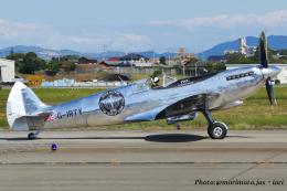 いおりさんが、名古屋飛行場で撮影したイギリス企業所有 361 Spitfire LF9Cの航空フォト(飛行機 写真・画像)