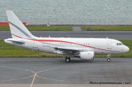 いおりさんが、羽田空港で撮影したグローバル・ジェット・ルクセンブルク A318-112 CJ Eliteの航空フォト(飛行機 写真・画像)