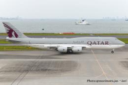いおりさんが、羽田空港で撮影したカタールアミリフライト 747-8KB BBJの航空フォト(飛行機 写真・画像)