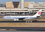 じーく。さんが、羽田空港で撮影した中国国際航空 A330-243の航空フォト(飛行機 写真・画像)
