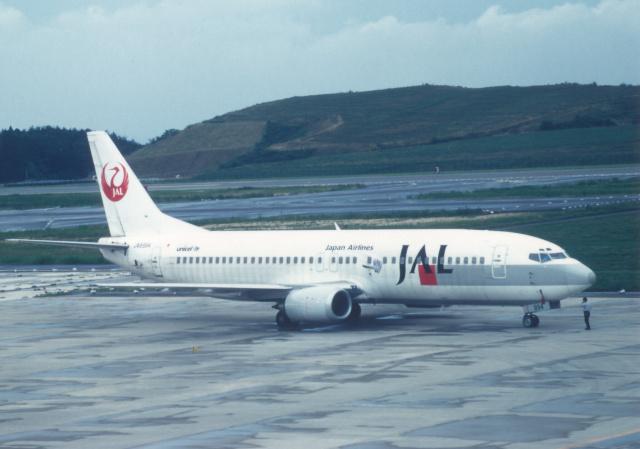 プルシアンブルーさんが、福島空港で撮影した日本航空 737-446の航空フォト(飛行機 写真・画像)