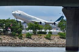Souma2005さんが、香港国際空港で撮影したキャセイパシフィック航空 747-867F/SCDの航空フォト(飛行機 写真・画像)