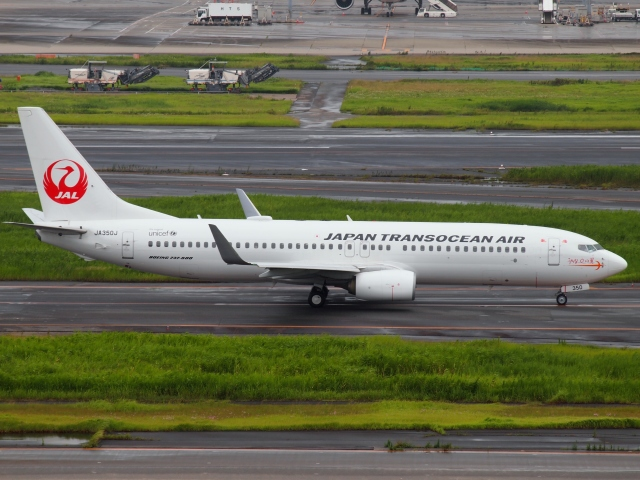FT51ANさんが、羽田空港で撮影した日本トランスオーシャン航空 737-846の航空フォト(飛行機 写真・画像)