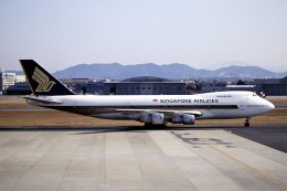 なごやんさんが、名古屋飛行場で撮影したシンガポール航空 747-212Bの航空フォト(飛行機 写真・画像)
