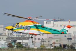いおりさんが、八尾空港で撮影した朝日航洋 AW139の航空フォト(飛行機 写真・画像)