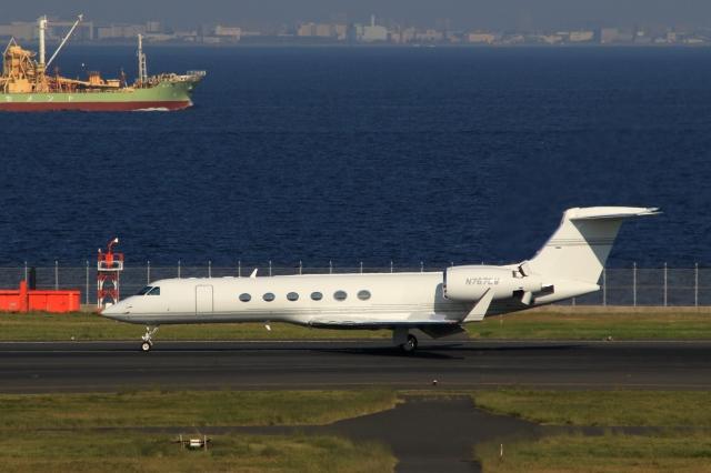 Hiro-hiroさんが、羽田空港で撮影したBANK OF UTAH TRUSTEE G-Vの航空フォト(飛行機 写真・画像)