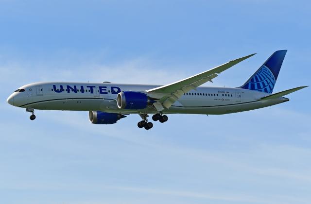 Souma2005さんが、香港国際空港で撮影したユナイテッド航空 787-9の航空フォト(飛行機 写真・画像)