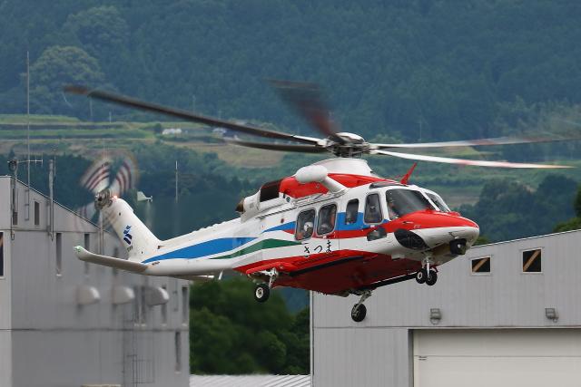 Zakiyamaさんが、熊本空港で撮影した鹿児島県防災航空隊 AW139の航空フォト(飛行機 写真・画像)