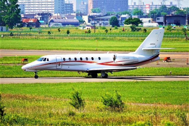 hidetsuguさんが、札幌飛行場で撮影した朝日航洋 680 Citation Sovereignの航空フォト(飛行機 写真・画像)