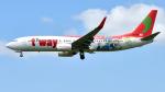 saoya_saodakeさんが、成田国際空港で撮影したティーウェイ航空 737-8HXの航空フォト(飛行機 写真・画像)