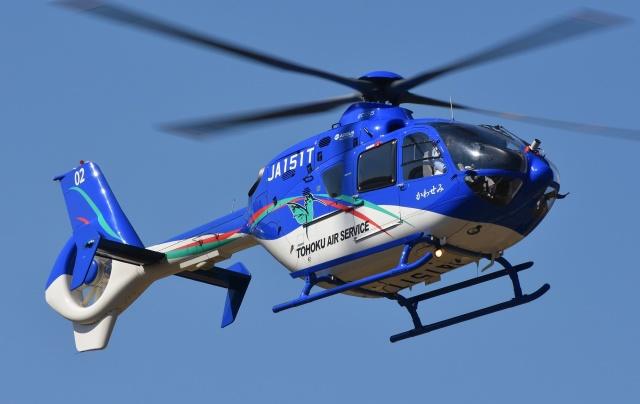 ブルーさんさんが、静岡ヘリポートで撮影した東北エアサービス EC135P2+の航空フォト(飛行機 写真・画像)