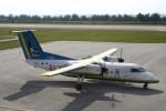Mr.boneさんが、南大東空港で撮影した琉球エアーコミューター DHC-8-103Q Dash 8の航空フォト(飛行機 写真・画像)