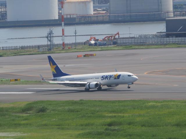 ねこねこちゃんさんが、羽田空港で撮影したスカイマーク 737-8FZの航空フォト(飛行機 写真・画像)