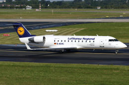 Hariboさんが、デュッセルドルフ国際空港で撮影したルフトハンザ・シティライン CL-600-2B19 Regional Jet CRJ-200LRの航空フォト(飛行機 写真・画像)