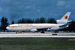 パール大山さんが、マイアミ国際空港で撮影したナショナル・エアラインズ DC-10-10の航空フォト(飛行機 写真・画像)