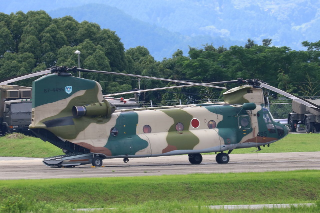 Zakiyamaさんが、熊本空港で撮影した航空自衛隊 CH-47J/LRの航空フォト(飛行機 写真・画像)