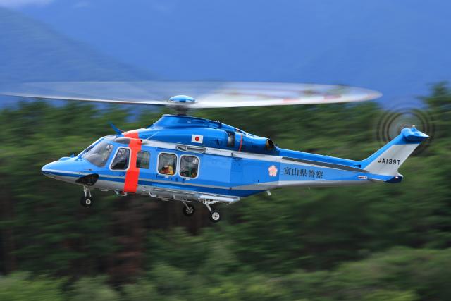 Assk5338さんが、松本空港で撮影した富山県警察 AW139の航空フォト(飛行機 写真・画像)