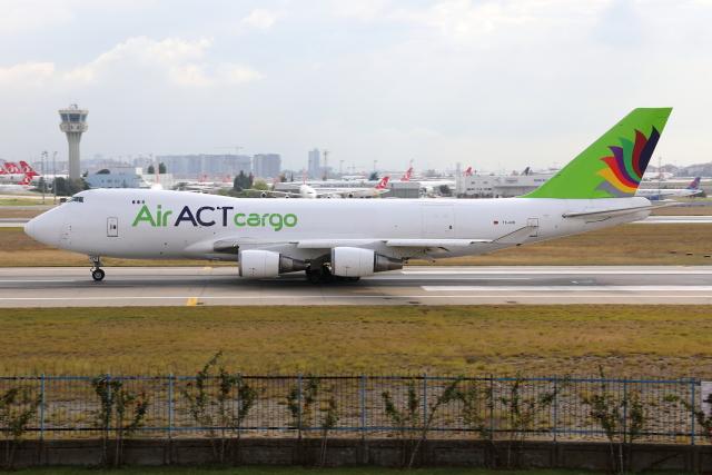 TIA spotterさんが、アタテュルク国際空港で撮影したACTエアラインズ 747-428F/ER/SCDの航空フォト(飛行機 写真・画像)