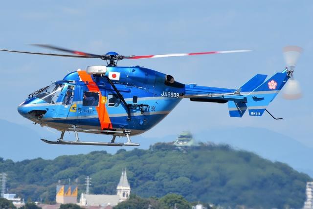 ブルーさんさんが、名古屋飛行場で撮影した岩手県警察 BK117C-1の航空フォト(飛行機 写真・画像)