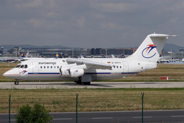 Hariboさんが、フランクフルト国際空港で撮影したユーロウイングス BAe-146-200の航空フォト(飛行機 写真・画像)
