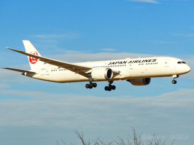 池さん@JA381Aさんが、成田国際空港で撮影した日本航空 787-9の航空フォト(飛行機 写真・画像)