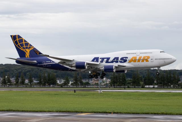 KANTO61さんが、横田基地で撮影したアトラス航空 747-446の航空フォト(飛行機 写真・画像)