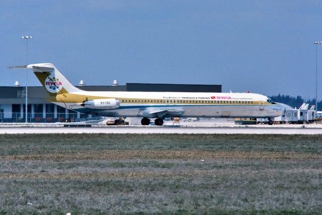 パール大山さんが、マイアミ国際空港で撮影したBWIA ウェスト インディーズ エアウェイズ DC-9-51の航空フォト(飛行機 写真・画像)