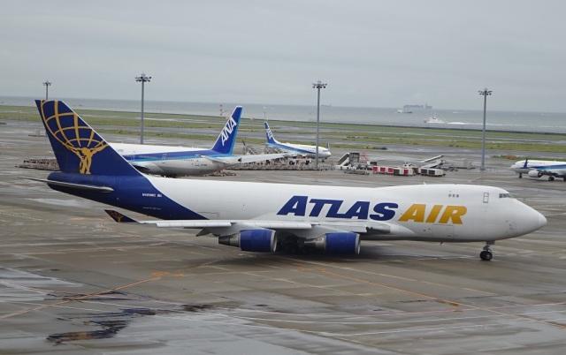 ukokkeiさんが、中部国際空港で撮影したアトラス航空 747-47UF/SCDの航空フォト(飛行機 写真・画像)