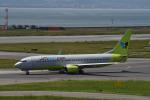 we love kixさんが、関西国際空港で撮影したジンエアー 737-8Q8の航空フォト(飛行機 写真・画像)