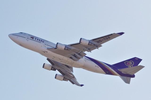 mild lifeさんが、関西国際空港で撮影したタイ国際航空 747-4D7の航空フォト(飛行機 写真・画像)