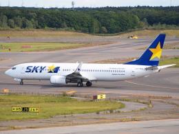 むらさめさんが、新千歳空港で撮影したスカイマーク 737-8HXの航空フォト(飛行機 写真・画像)