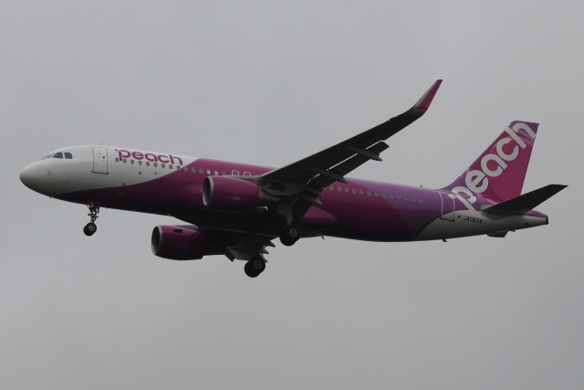 木人さんが、成田国際空港で撮影したピーチ A320-214の航空フォト(飛行機 写真・画像)