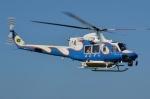 ブルーさんさんが、熊本県八代市球磨川河川敷緑地で撮影した宮崎県防災救急航空隊 412EPの航空フォト(飛行機 写真・画像)