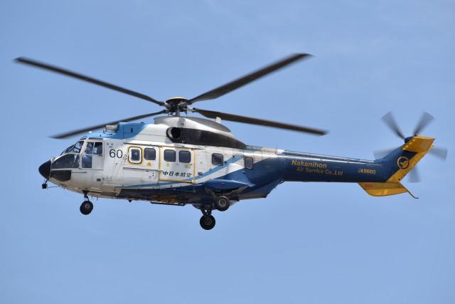 とびたさんが、名古屋飛行場で撮影した中日本航空 AS332L Super Pumaの航空フォト(飛行機 写真・画像)