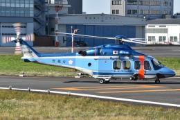 とびたさんが、東京ヘリポートで撮影した警視庁 AW139の航空フォト(飛行機 写真・画像)