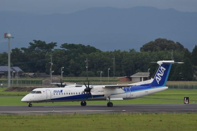 ぬま_FJHさんが、鹿児島空港で撮影したANAウイングス DHC-8-402Q Dash 8の航空フォト(飛行機 写真・画像)