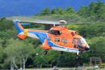 Nao0407さんが、松本空港で撮影した新日本ヘリコプター AS332L1 Super Pumaの航空フォト(飛行機 写真・画像)