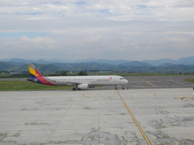 ねこねこちゃんさんが、静岡空港で撮影したアシアナ航空 A321-231の航空フォト(飛行機 写真・画像)