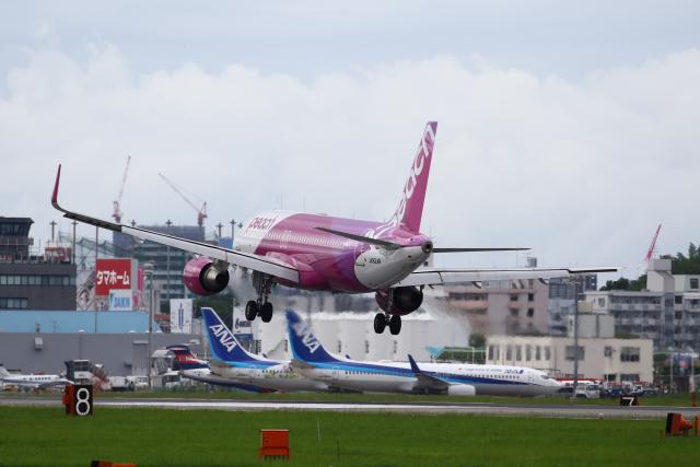 Yusuke✈︎さんが、福岡空港で撮影したピーチ A320-214の航空フォト(飛行機 写真・画像)