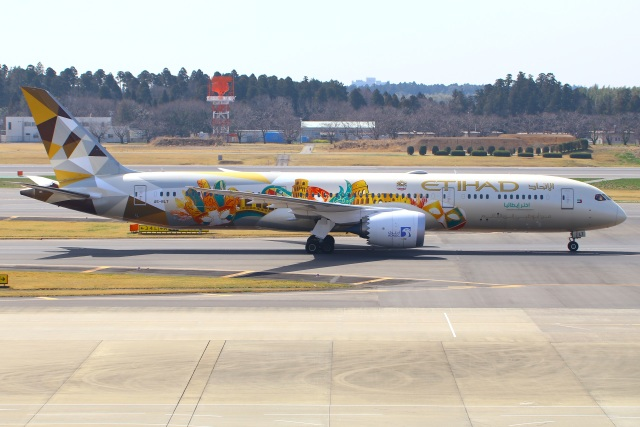 Tomo_mczさんが、成田国際空港で撮影したエティハド航空 787-9の航空フォト(飛行機 写真・画像)