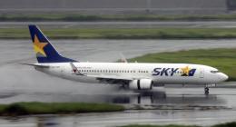 Butaさんが、羽田空港で撮影したスカイマーク 737-8FHの航空フォト(飛行機 写真・画像)