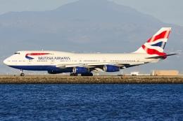 Ariesさんが、サンフランシスコ国際空港で撮影したブリティッシュ・エアウェイズ 747-436の航空フォト(飛行機 写真・画像)