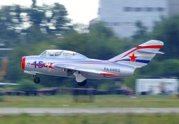 ちゃぽんさんが、ジュコーフスキー空港で撮影したソビエト空軍 MiG-15UTIの航空フォト(飛行機 写真・画像)