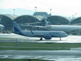 LOVE767さんが、香港国際空港で撮影したインディゴ A320-271Nの航空フォト(飛行機 写真・画像)