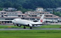 tutomuさんが、岡山空港で撮影した日本トランスオーシャン航空 737-8Q3の航空フォト(飛行機 写真・画像)