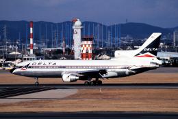 なごやんさんが、名古屋飛行場で撮影したデルタ航空 L-1011-385-3 TriStar 500の航空フォト(飛行機 写真・画像)