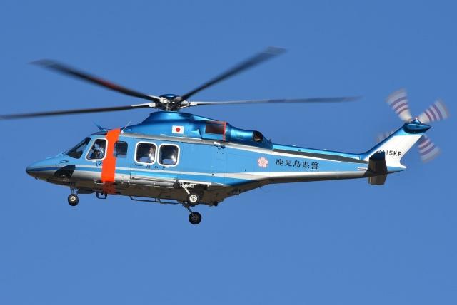 ブルーさんさんが、名古屋飛行場で撮影した鹿児島県警察 AW139の航空フォト(飛行機 写真・画像)