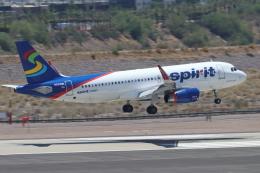 キャスバルさんが、フェニックス・スカイハーバー国際空港で撮影したスピリット航空 A320-232の航空フォト(飛行機 写真・画像)